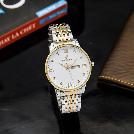 Đồng hồ nam PAGINI PA5588 dây thép kim dạ quang cao cấp chống nước 3ATM 8