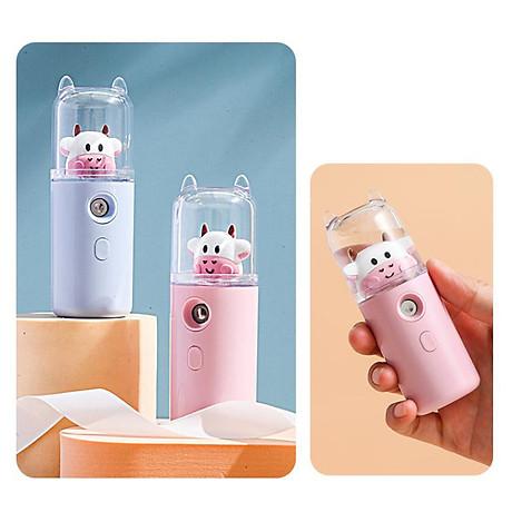 Máy Phun Sương Nano Mini Cầm Tay Bò Sữa 30ml, Hỗ Trợ Xịt Khoáng Cấp Ẩm, Sạc USB Nhỏ Gọn Tiện Lợi 3