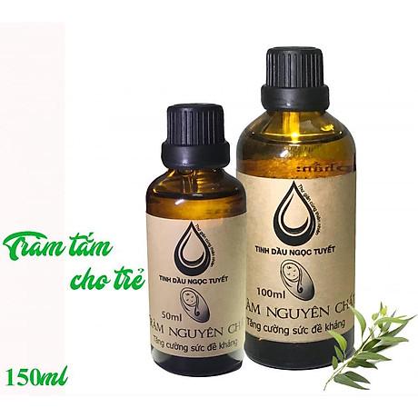 Combo 2 chai tinh dầu tràm nguyên chất tắm chống bệnh vặn cho trẻ nhỏ Ngọc Tuyết 100mlx50ml 4