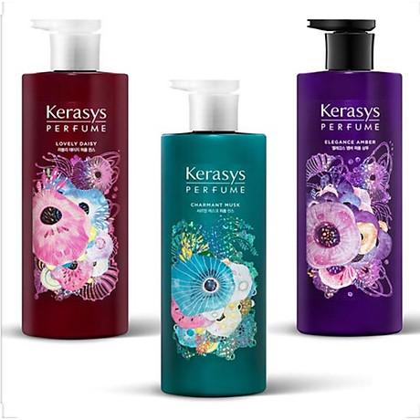 Dầu gội nước hoa hương cúc rừng và xạ hương Kerasys Lovely Daisy Hàn Quốc 600ml tặng kèm móc khóa 3