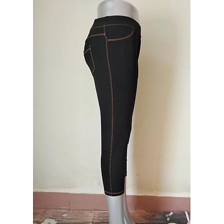 Quần legging giả jeans 4 túi dáng lỡ 2