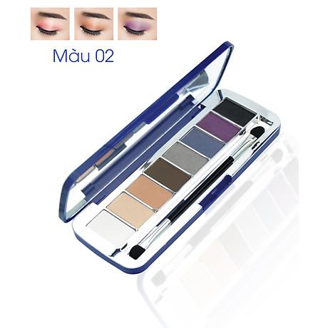 Phấn mắt 8 ô siêu mịn Mira Aroma Shadow Palette 8 Colors Hàn Quốc (2g x8) No.2 tặng kèm móc khoá 2
