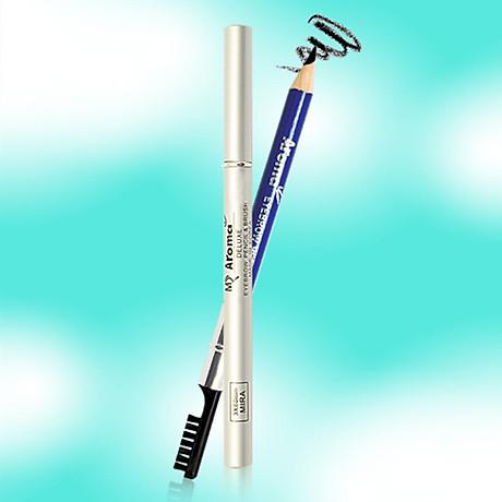 Chì vẽ mày sắc nét Aroma Eyebrow Pencil Hàn Quốc No.11 Balck tặng kèm móc khoá 7