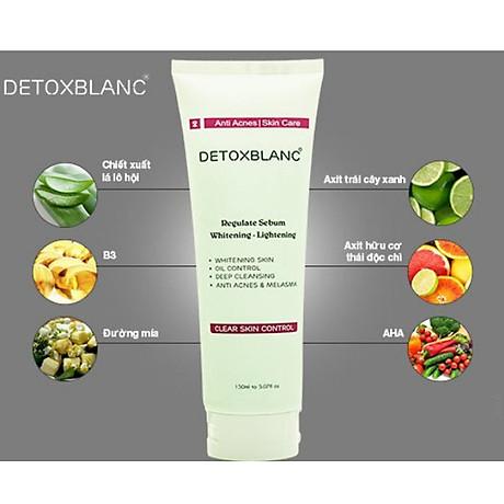 Sửa Rửa Mặt Chăm Sóc Da Mụn Nhạy Cảm Detox BlanC Clear Skin Control (mẫu mới) 4