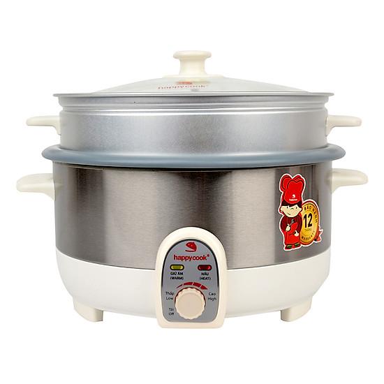 """Image result for Nồi lẩu điện có xửng Happy Cook HCHP-350ST 3.5 lít tiki"""""""
