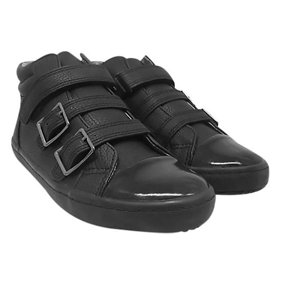 Giày Cổ Lửng Ba Quai Dán Bé Gái D&A BG1605 - Đen