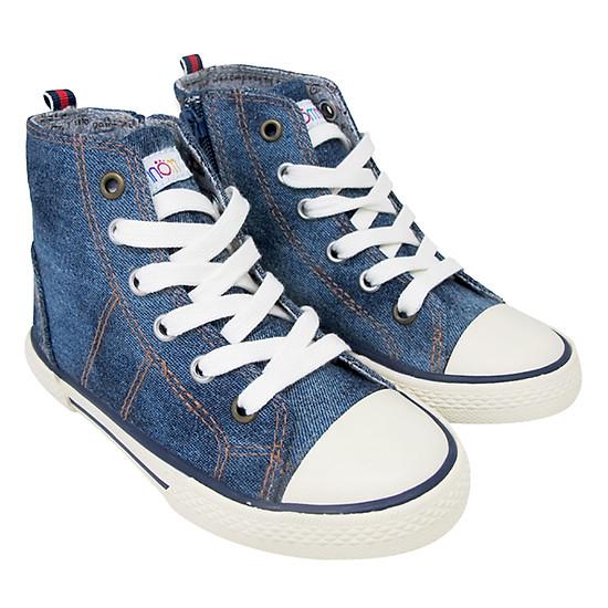 Giày Cổ Lửng Buộc Dây Bé Gái Nomnom NG1608 - Xanh Bò