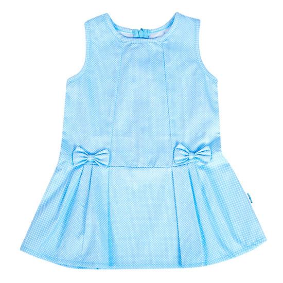 Đầm Xếp Li Đính Nơ Tiniboo - Xanh Da Trời