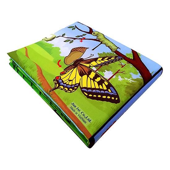 Bộ 4 Sách Vải Pipovietnam (Hình Khối - Hoa Quả - Thời Tiết - Côn Trùng)