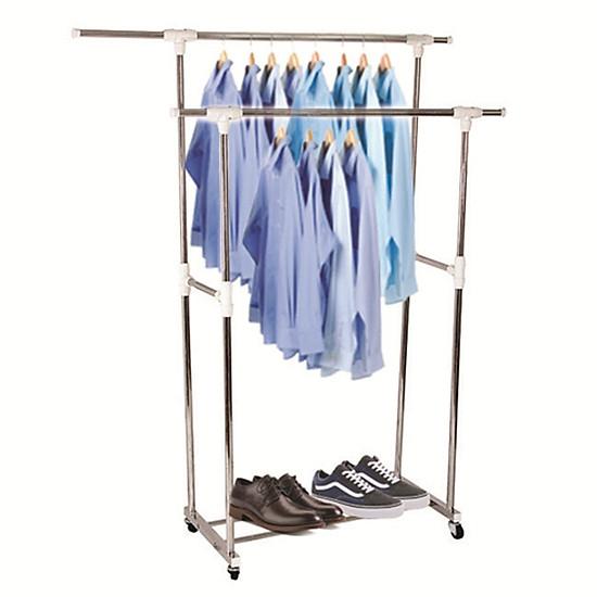 Kết quả hình ảnh cho Giàn phơi quần áo Inox đôi di động cao cấp Prota tiki