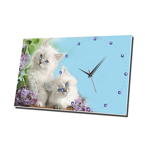 Đồng Hồ Để Bàn Vicdecor DHB0013 Mèo Con Đáng Yêu