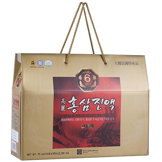 6c74d36516ff Thực Phẩm Chức Năng Chong Kun Dang Nước Hồng Sâm 6 Năm - 6 Years Korean Red  Ginseng Eextract Liquid (70ml x 30 gói)