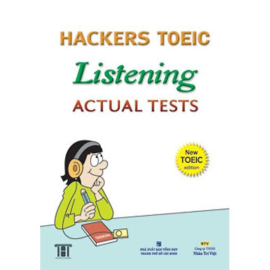 Hình đại diện sản phẩm Hackers Toeic Listening Actual Tests - New Toeic Edition (Kèm 1CD)