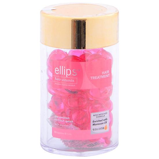 Serum Vitamin Dưỡng Tóc Phục Hồi Hư Tổn Ellips Hair Treatment (Hộp 50 Viên ) - 100707094