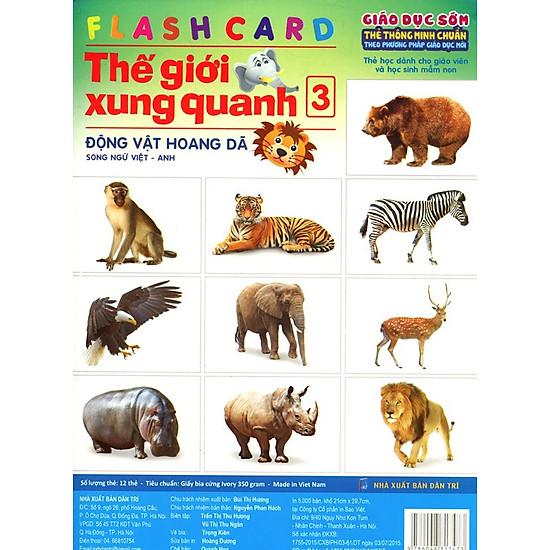 Thumb của hình Flashcard Thế Giới Xung Quanh 3 - Động Vật Hoang Dã