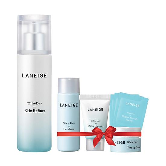 Nước Cân Bằng Làm Trắng Da Laneige White Dew Skin Refiner 270280623 (120ml) + Bộ Dưỡng Trắng Da White Dew 4 Món | Tiki.vn