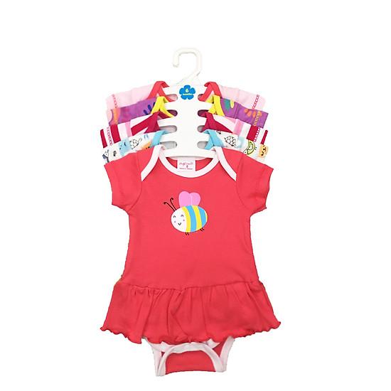 Set 5 Body Liền Váy Cho Bé Gái ( Body Váy ) Baby Wear ( Màu Ngẫu Nhiên )