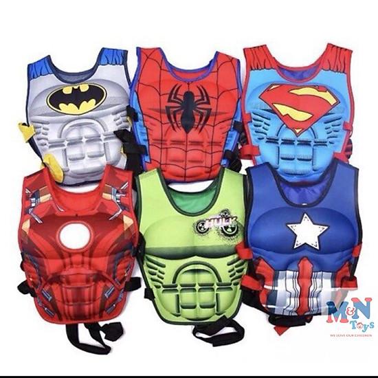 Phao bơi,Áo phao bơi các nhân vật siêu anh hùng Avenger cho các bé 2- 8 tuổi-1