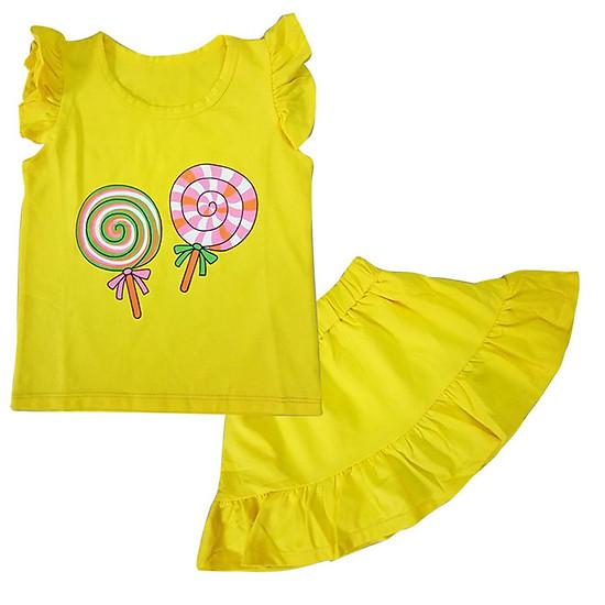 Hình đại diện sản phẩm Set áo tay bèo và chân váy đuôi cá cho bé gái 13-27kg
