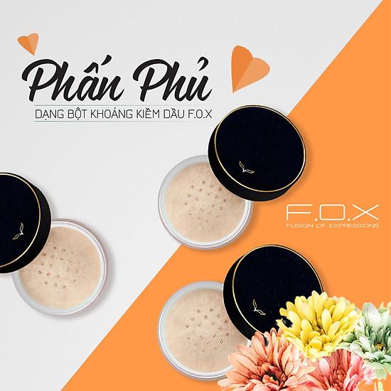 [TAIWAN] Phấn Phủ Dạng Bột Khoáng Kiềm Dầu F.O.X Sheer Finish Loose Powder 25g-5