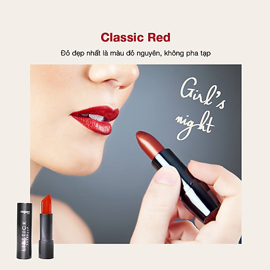 Son Lì Collagen Red Nagano Japan 2,9g - Classic Red/ Ps I love You/ Burgundy Wine - Son có chứa Collagen giúp dưỡng mềm môi-4