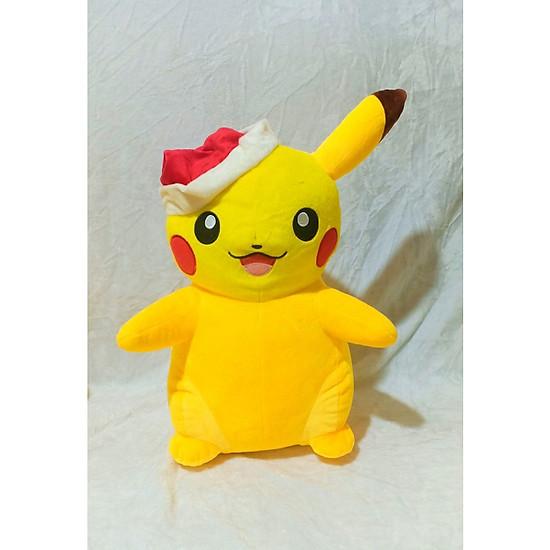 Thú Nhồi Bông Hình Pikachu Noel 48cm Vải Velbo