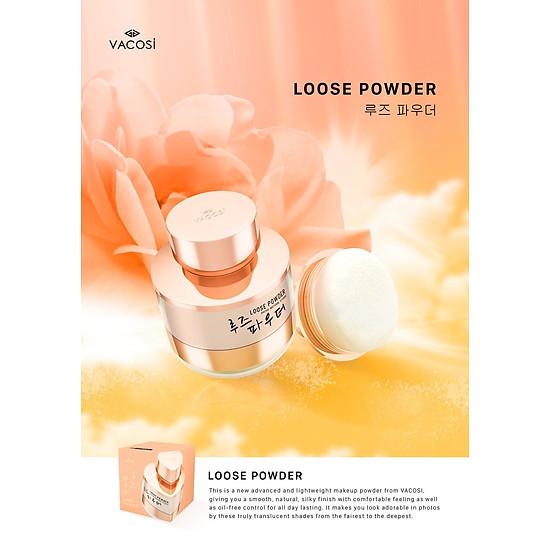 Image result for Phấn phủ bột siêu mịn kiềm dầu Vacosi natural studio loose powder