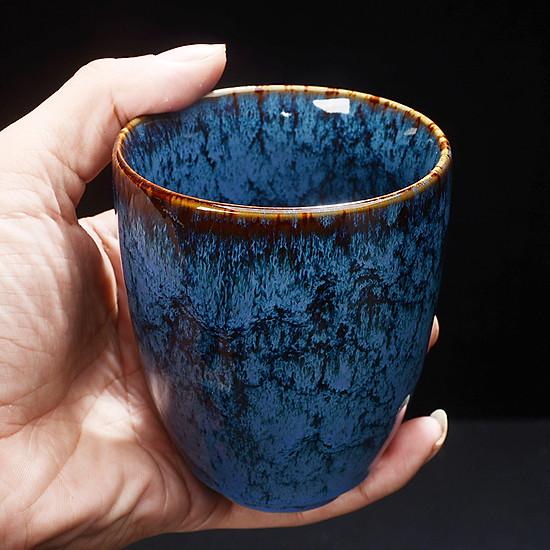 Cốc uống trà bằng sứ kiểu cổ điển phong cách Trung Quốc 200ml - Mẫu 3-0