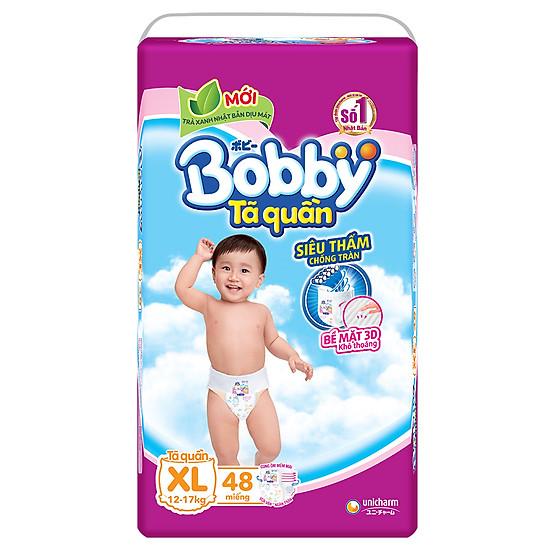 Combo 3 Gói Tã Quần Bobby Gói Siêu Lớn XL48 (48 Miếng)