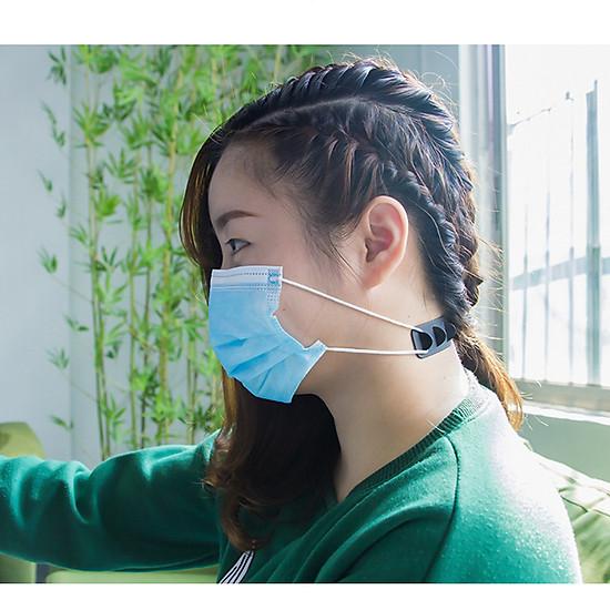 Móc Đeo Khẩu Trang Bằng Nhựa Mềm Có Thể Điều Chỉnh Không Gây Đau Đầu Cho Người Lớn & Trẻ Em