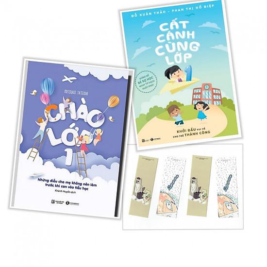 Combo sách hành trang vào lớp 1 : Chào Lớp 1 +  Cất cánh cùng lớp 1 (Tặng kèm bookmark mèo yêu thương)