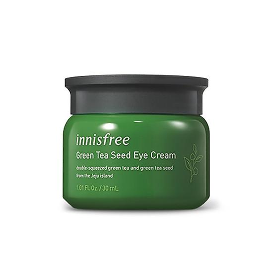 Kết quả hình ảnh cho Kem Dưỡng Mắt Innisfree Green Tea Seed Eye Cream 30ml tiki