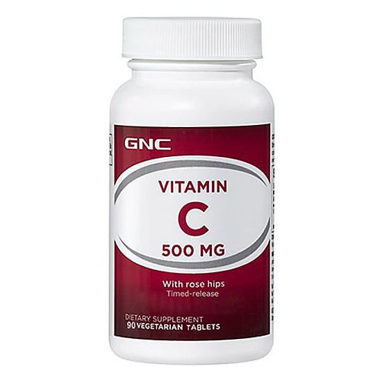 Hình đại diện sản phẩm Thực Phẩm Chức Năng Hỗ trợ tăng sức đề kháng GNC VITAMIN C 500 chai 90 viên