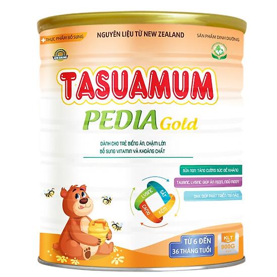 3 Hộp Sữa dinh dưỡng TASUAMUM PEDIA GOLD 900g