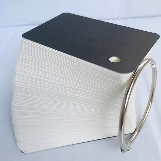 100 Thẻ Flashcard Trắng 5x8cm Học Tiếng Anh Kèm Khoen Bìa