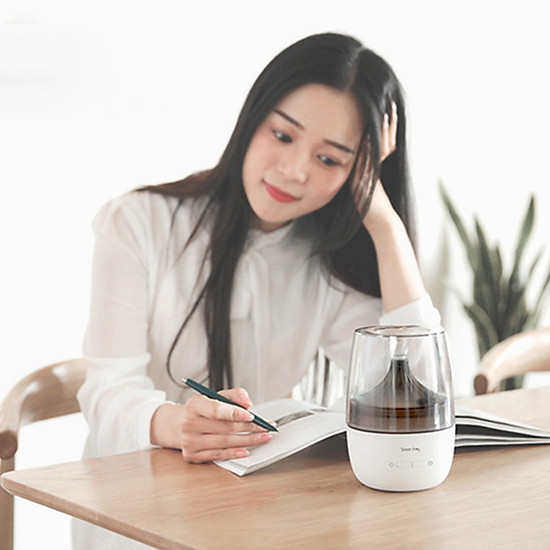 Xiaomi Ecological Chain Ultrasonic Aromatherapy Humidifier With Colorful Night Light Two Spray Modes Mini Air Humidifier Household Nano Spray Mute Humidifying Aroma Diffuser For Office Car Use - White-7