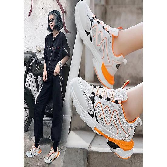 Giày sneaker nữ phối màu cao cấp