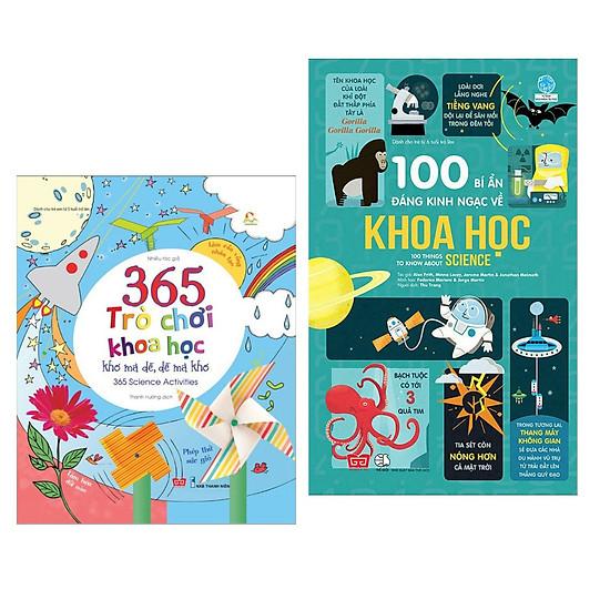 Combo 2 cuốn sách thiếu nhi hay về kiến thức khoa học: 100 Bí Ẩn Đáng Kinh Ngạc Về Khoa H