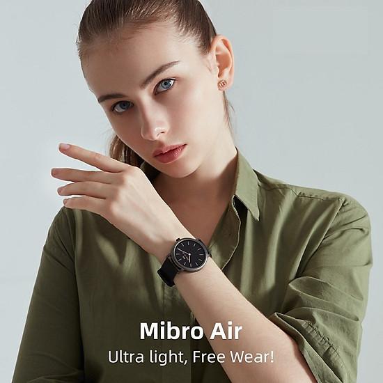 đồng hồ thông minh xiaomi Mibro Air XPAW001 Kết nối Bluetooth 5.0 theo dõi sức khỏe chống nước IP68 hỗ trợ Android iOS -black-only watch-1
