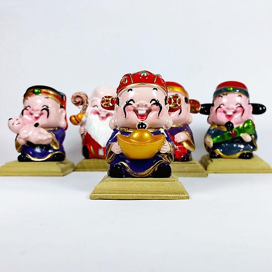 Bộ tượng 5 thần tài lộc may mắn
