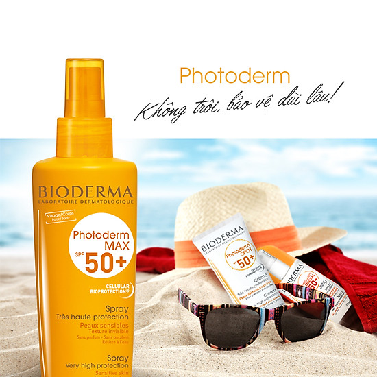 Image result for Xịt chống nắng Bioderma Photoderm Max Spray SPF 50+