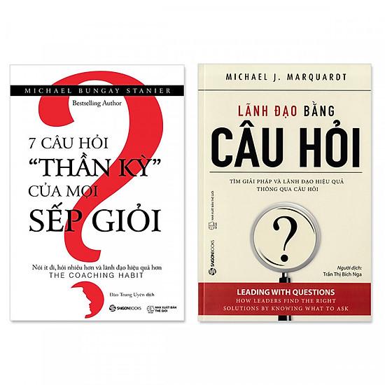 """Combo 2 cuốn: Lãnh Đạo Bằng Câu Hỏi + 7 Câu Hỏi """"Thần Kỳ"""" Của Mọi Sếp Giỏi"""