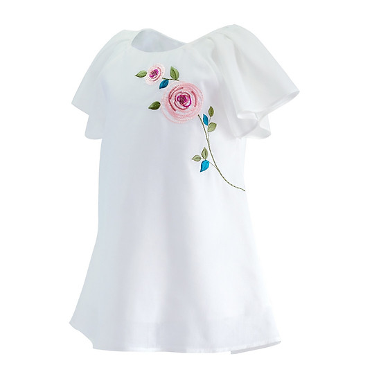Đầm sô trắng thêu cánh tiên
