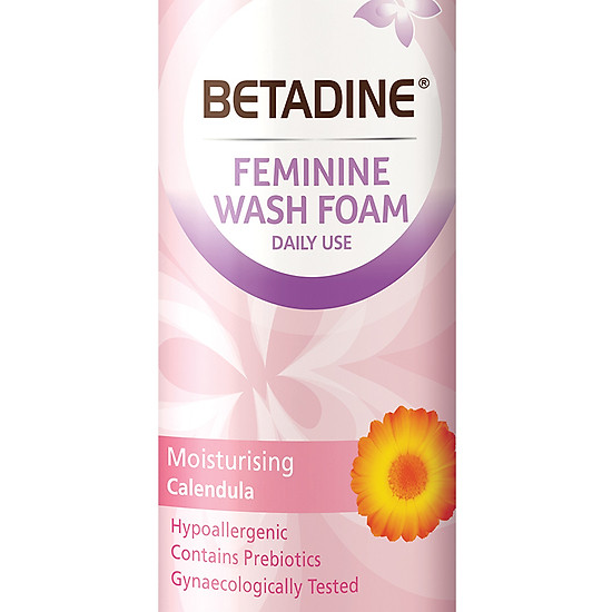Bọt vệ sinh phụ nữ Betadine Moisturising - chai 100ml
