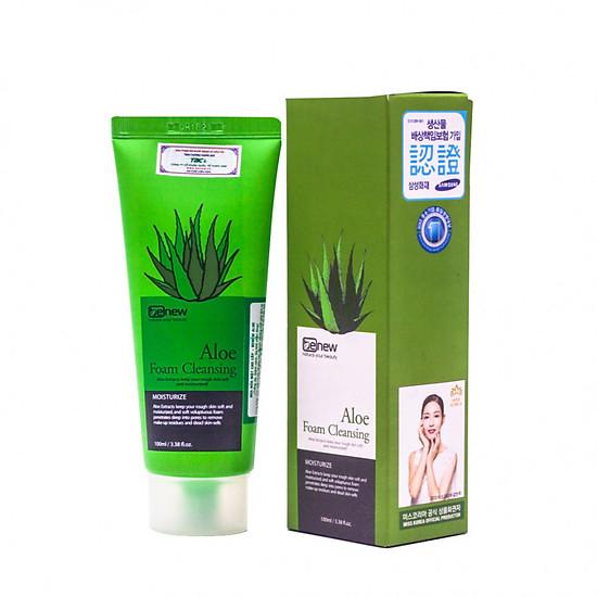 Hàng Chính Hãng -Sữa Rửa Mặt Lô Hội Trắng Da Aloe Foam Cleanser Benew Hàn Quốc 100ml