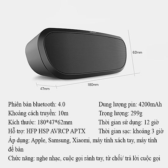 Loa bluetooth Zealot ngoài trời âm thanh siêu trầm S9 hàng chính hãng tương thích điện thoại di động máy tính laptop - Đen-1