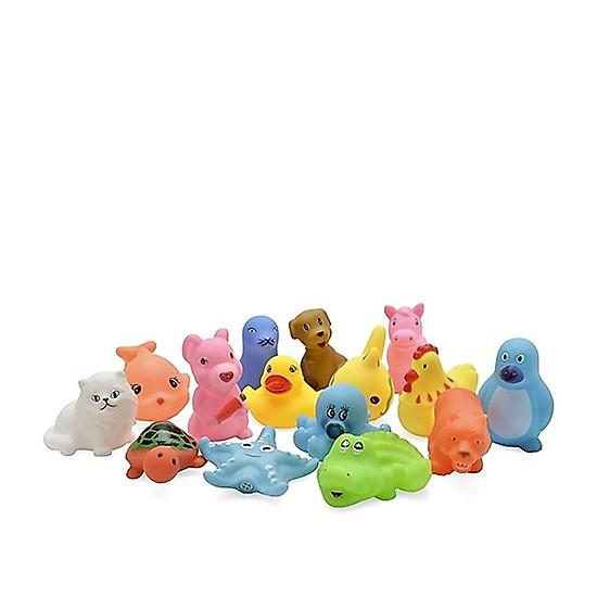Bộ đồ chơi thả bồn tắm hình con vật dễ thương cho bé ( 8 con ) – Tặng 01 gối lõm cho bé</