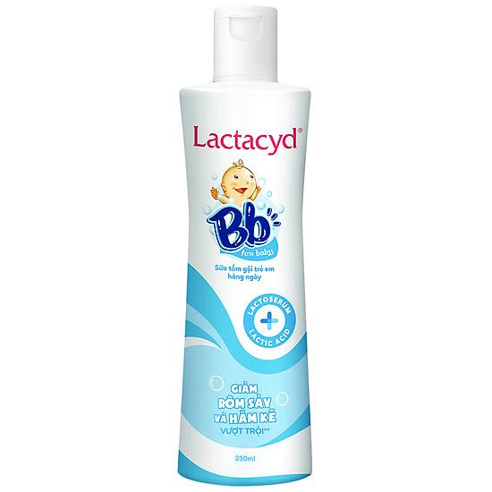 Sữa Tắm Gội Hằng Ngày Cho Bé Lactacyd BB – Giảm Rôm Sảy & Hăm Kẽ (250ml)