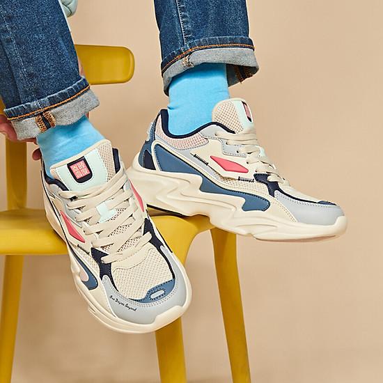 Giày Sneaker 361° 671936786-3 Phối Màu Retro Cá Tính Cho Nam (41) - Beige / Urban Pink-1