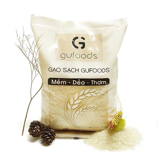 Gạo sạch GUfoods (dẻo - mềm - thơm) (1kg) = 17.500đ